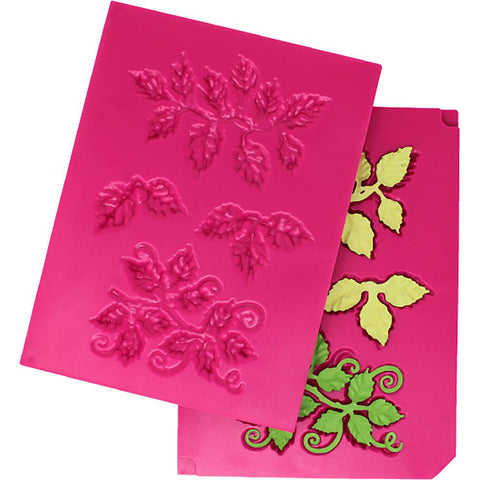 Heartfelt Creations Shaping Mold 3D Leafy Accents 7.75 inch X5.75 inch X.5 inch