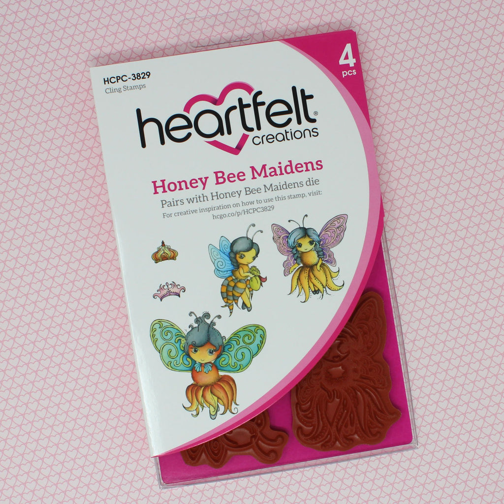Heartfelt Creations Cling Rubber Stamp Set 5X6.5 Honey Bee Maidens