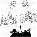 Heartfelt Creations Cling Rubber Stamp Set 5X6.5 O Holy Night