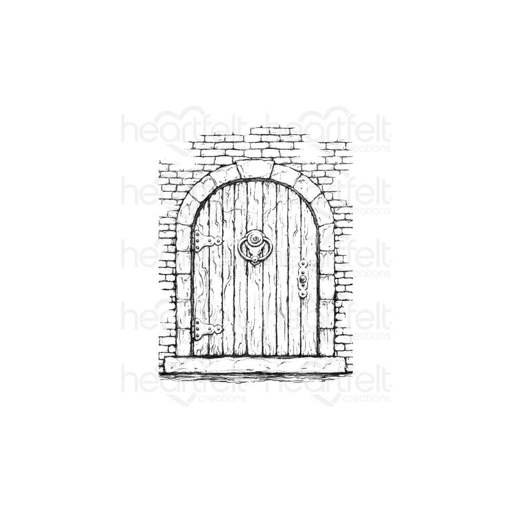 Heartfelt Creations Cling Rubber Stamp Set French Doorway, French Cottage