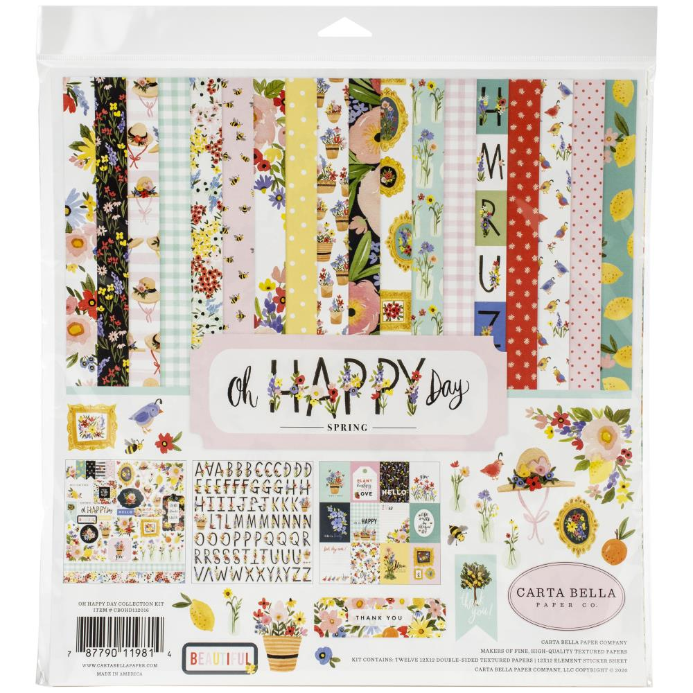 Carta Bella Collection Kit 12X12 Oh Happy Day Spring
