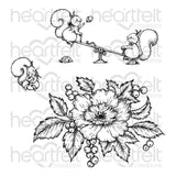 "Heartfelt Creations Cling Rubber Stamp Set - Oakberry Lane Antics 2.25"" To 5"""