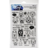 Simon Hurley create. Cling Stamps 6X9 Puppy Pals