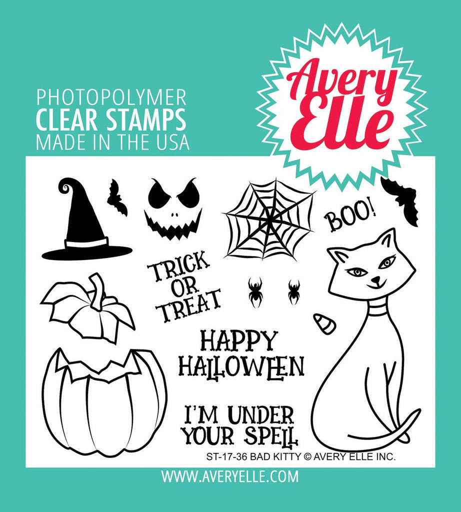 Avery Elle Clear Stamp Set 4X3 Bad Kitty