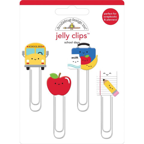 Doodlebug - Jelly Clips 4 pack - School Days