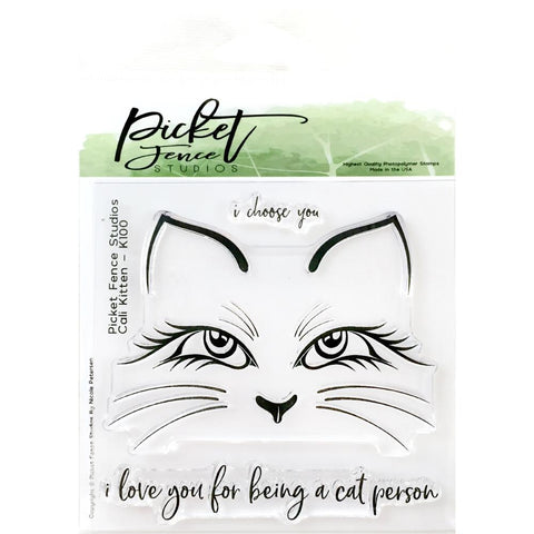 Picket Fence Studios 4inch X4inch Stamp Set Cali Kitten