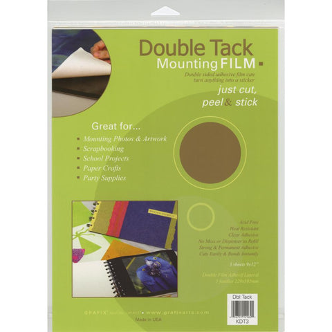 Double Tack Mounting Film 9X12 3/Pkg