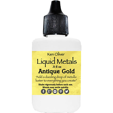 Ken Oliver Liquid Metals .5fl oz - Antique Gold