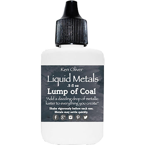 Ken Oliver Liquid Metals .5fl oz - Lump Of Coal