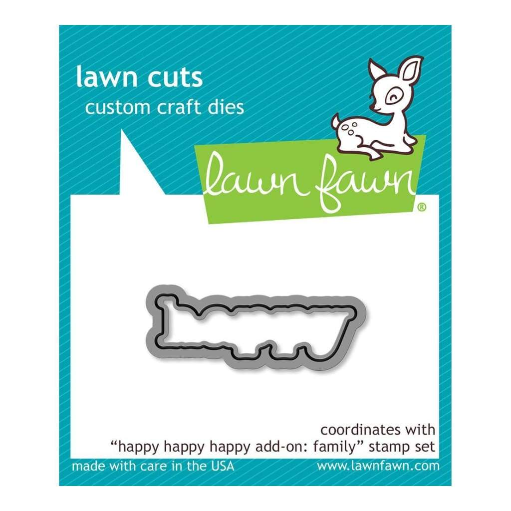 Lawn Cuts Custom Craft Die Happy Happy Happy Add-On: Family