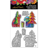 Stampendous Laurel Burch Cling Stamp & Die Set Holiday Friends