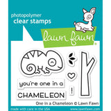 Lawn Fawn Clear Stamps 3 inch X2 inch One In A Chameleon