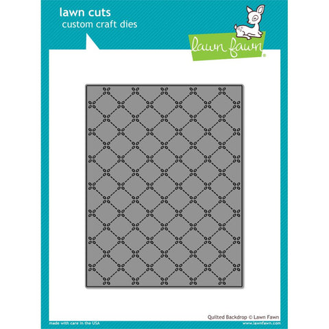 Lawn Cuts Custom Craft Die Quilted Backdrop