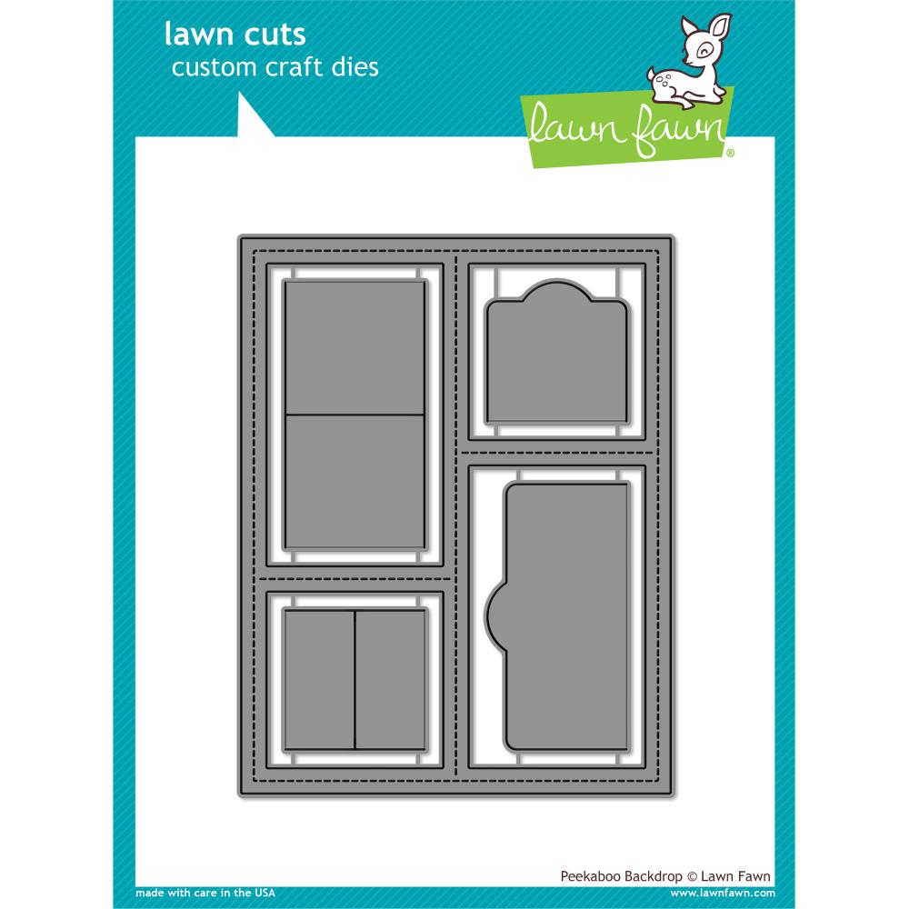 Lawn Cuts Custom Craft Die Peekaboo Backdrop