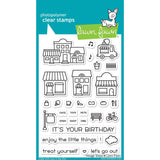 Lawn Fawn Clear Stamps 4 inch X6 inch Village Shops
