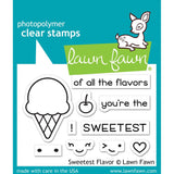 Lawn Fawn Clear Stamps 3 inch X2 inch Sweetest Flavor