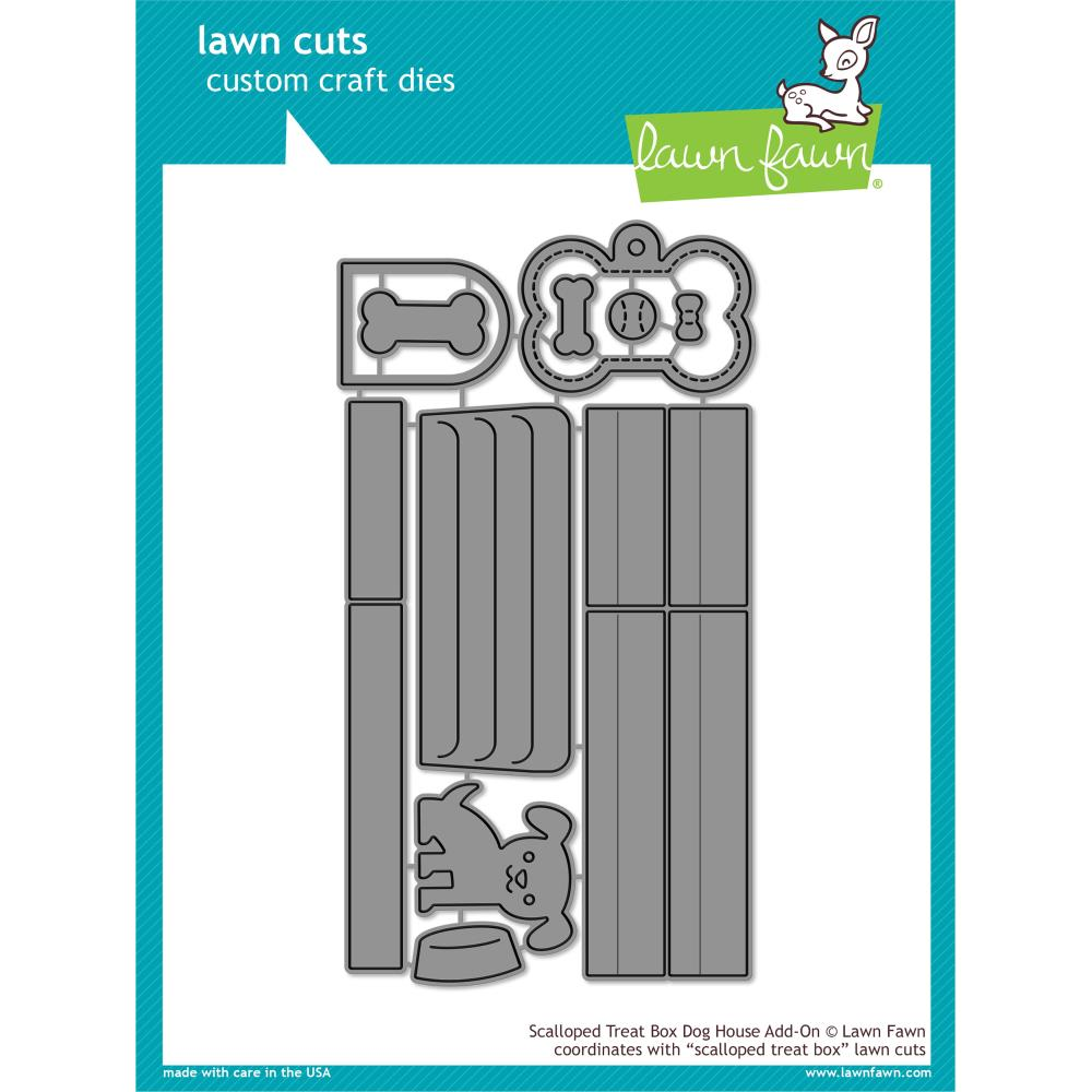 Lawn Cuts Custom Craft Die Scalloped Treat Box Dog House