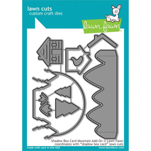 Lawn Fawn - Shadow Box Card Mountain Add-On (coordinates with Shadow box card)