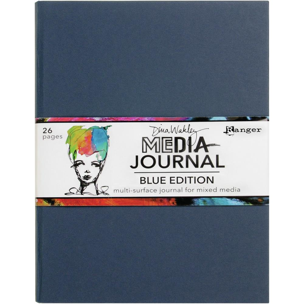 Dina Wakley Media Journal 8X10 Blue Edition
