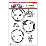 Dina Wakley Media Cling Stamps 6 inch X9 inch Oops, Oh Well