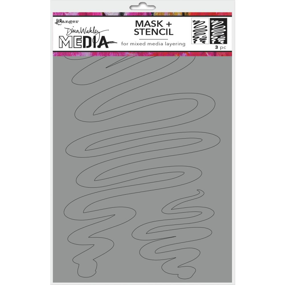 Dina Wakley Media Stencils + Masks 6X9 - Meandering