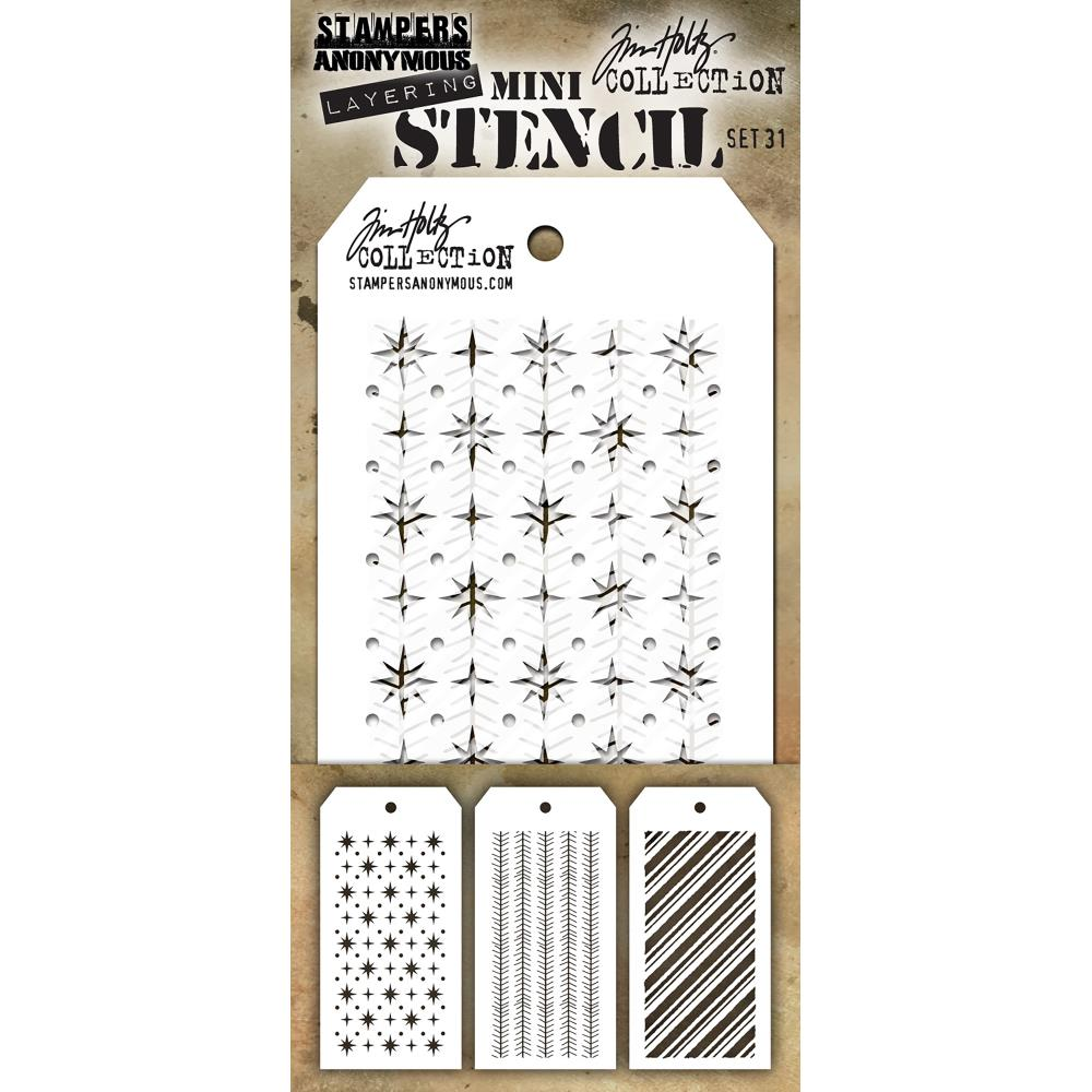 Tim Holtz Mini Layered Stencil Set 3 pack Set #31