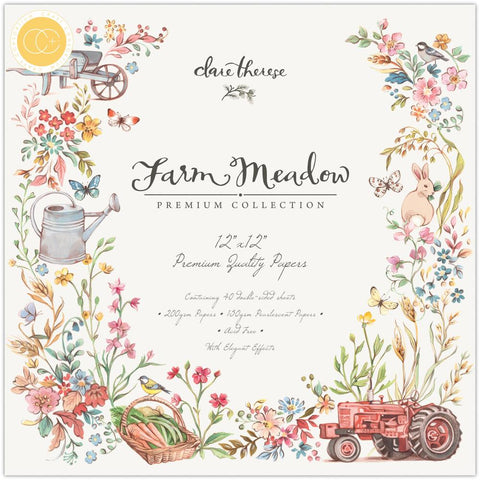 Craft Consortium Double-Sided Paper Pad 12X12 40/Pkg Farm Meadow By Clare Therese Gray