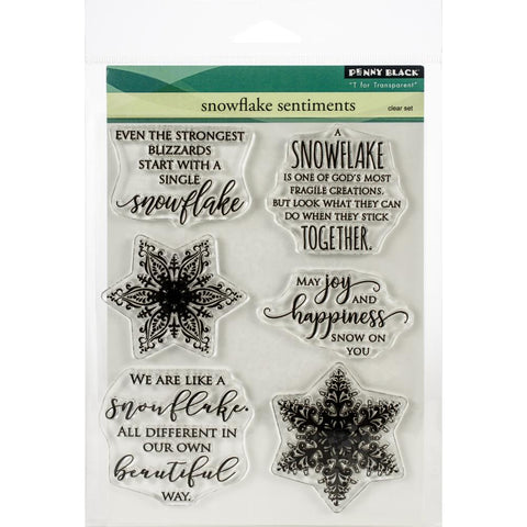 Penny Black Clear Stamps Snowflake Sentiments