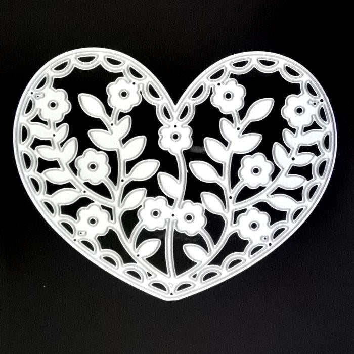 Poppy Crafts Dies - Hearts with Flowers Die Design