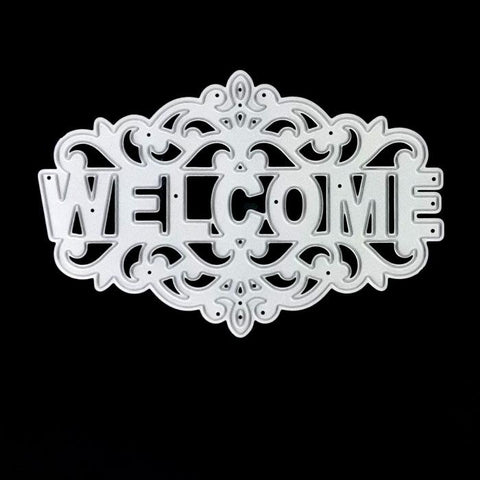 Poppy Crafts Dies - Welcome Die Design