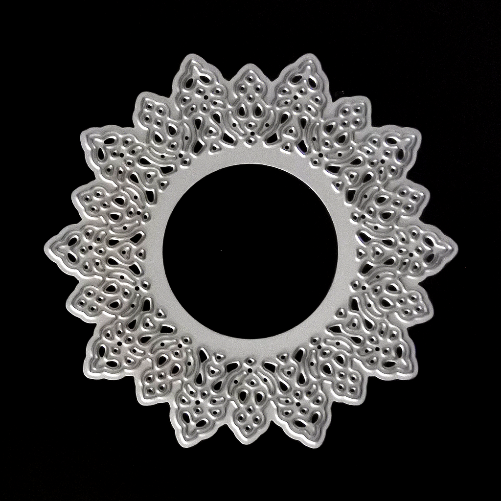 Poppy Crafts Dies - Flower Circle Frame Die Design