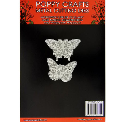 Poppy Crafts Dies - Two Butterflies Die Designs