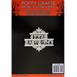 Poppy Crafts Dies - Merry Christmas Die Design
