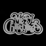 Poppy Crafts Dies - Fancy Merry Christmas Script Die Design