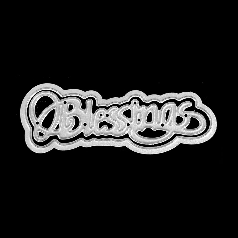 Poppy Crafts Dies - Blessings Script Die Design