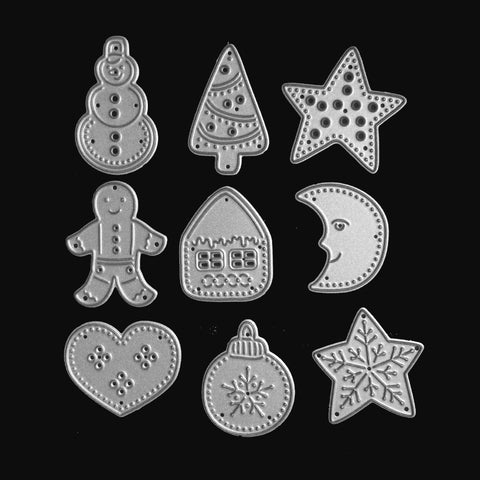 Poppy Crafts Dies - Nine Christmas Die Designs (9 dies)