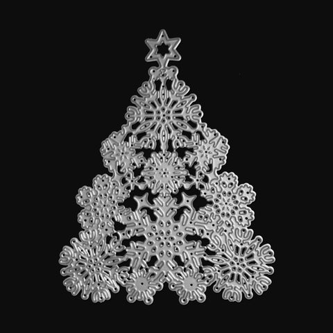 Poppy Crafts Dies - Ornate Snowflake Christmas Tree Die Design