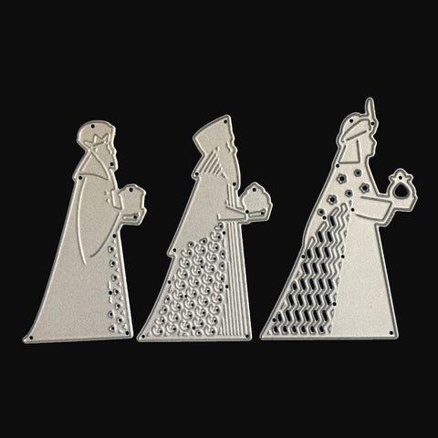 Poppy Crafts Dies - Three Wise Men Die Designs (3 separate dies)