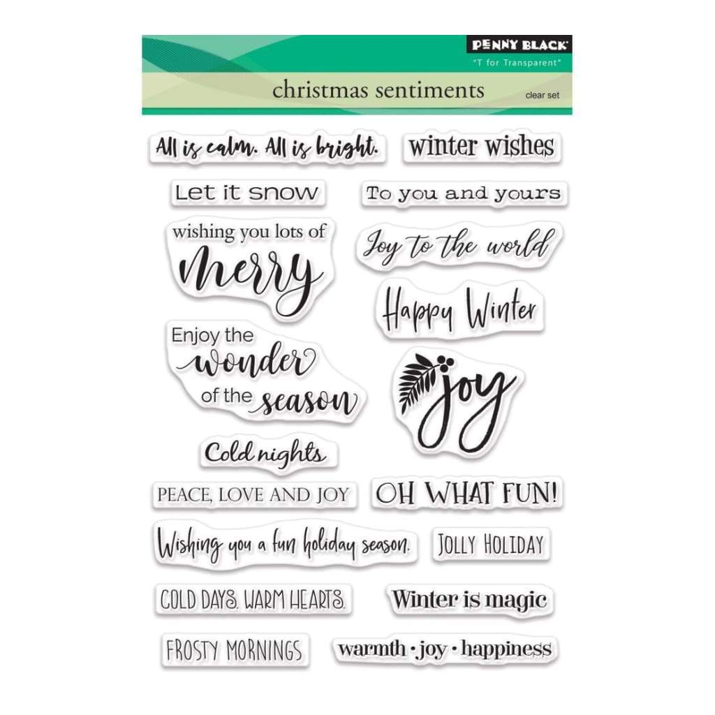 Penny Black Clear Stamps - Christmas Sentiments