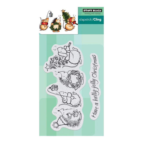 Penny Black Clear Stamps - Holly Jolly Critters