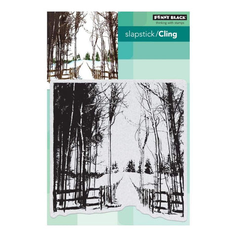 Penny Black cling Stamps - Snow Trails