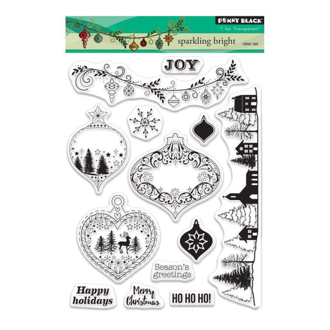 Penny Black Clear Stamps - Sparkling Bright