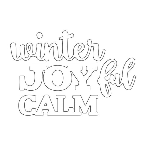 Penny Black Creative Dies - Joyful Winter