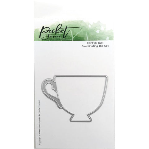 Picket Fence Studios Steel Dies Coffee Cup - Steel Die. 3 3/8in. Tall.