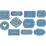 Pinkfresh Studio Simple & Sweet Die-Cuts 11 pack Fabric, with Gold Foil