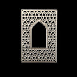 PoppyCrafts Cutting Die - Patterened Rectangle Frame Die with Arch Window