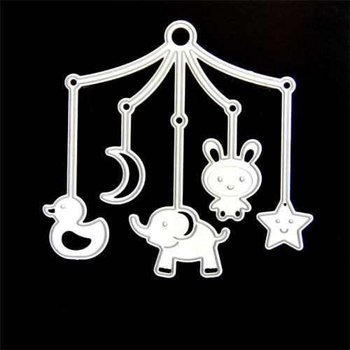 PoppyCrafts Cutting Die - Baby Carosel die with fun designs
