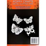 Poppy Crafts - 4 Beautiful Butterlies Die Design