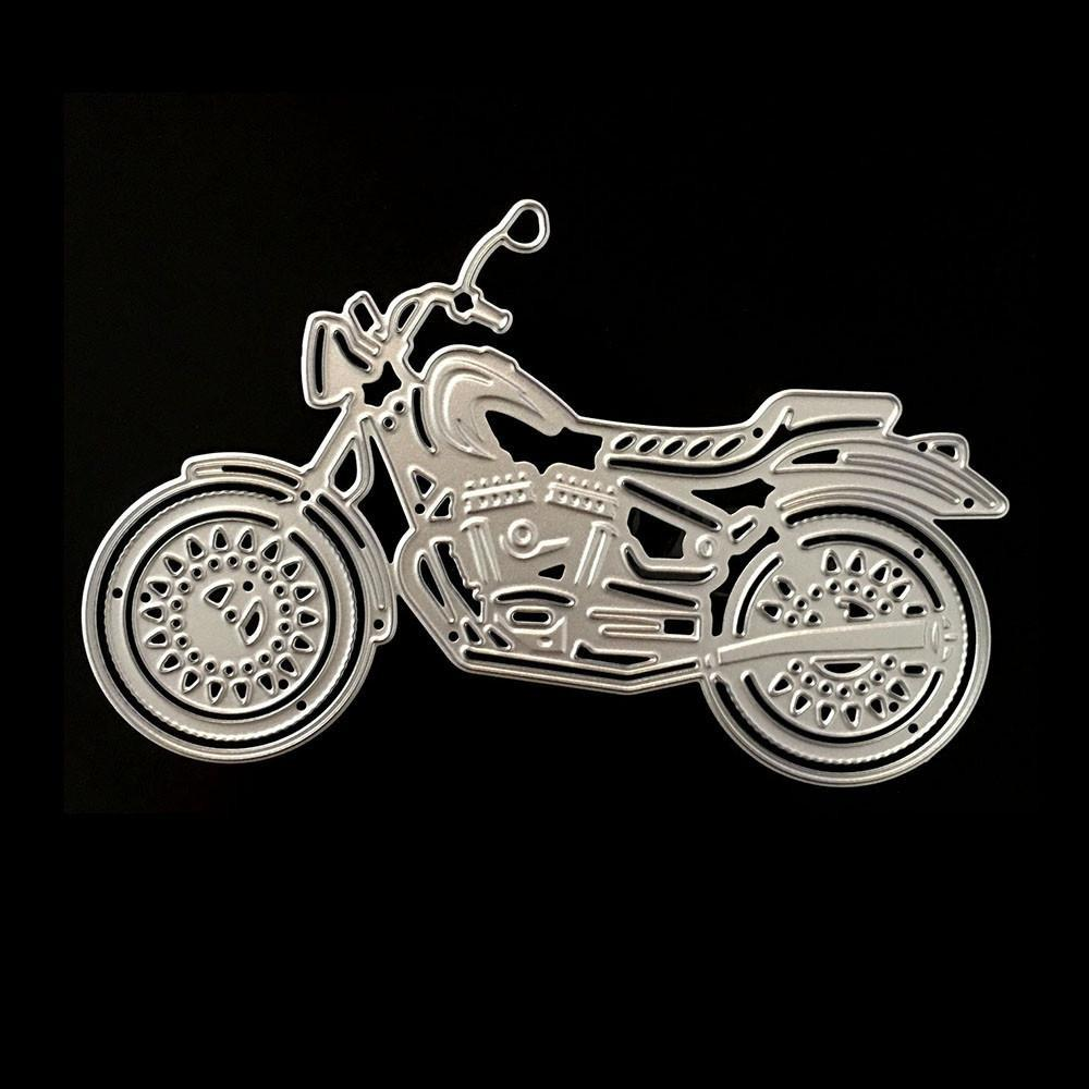 PoppyCrafts Cutting Die - Motorbike Side View Die Design