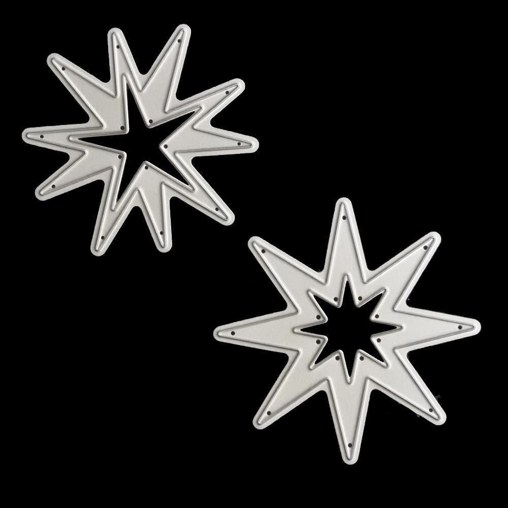 Poppy Crafts - Two Star #2 (set of 2 dies) dies